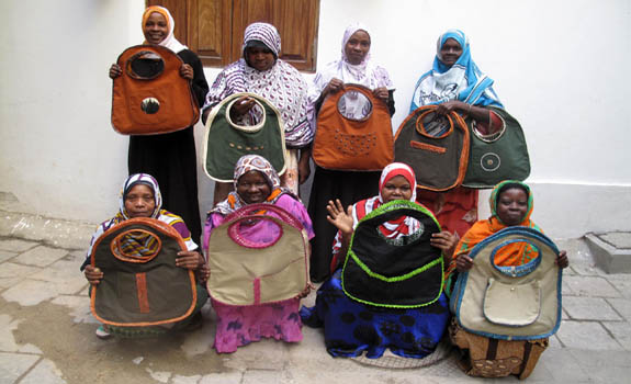Fahari women are delighted to deliver their first ever order.