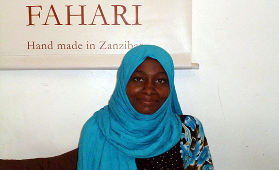 Hawa, our ever-smiling Retail & Shop manager...