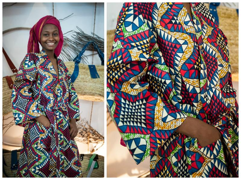 Unisex bathrobe made from traditional colourful and highly patterned 100% cotton kitenge. Many colours and patterns are available: please specify colour pr...