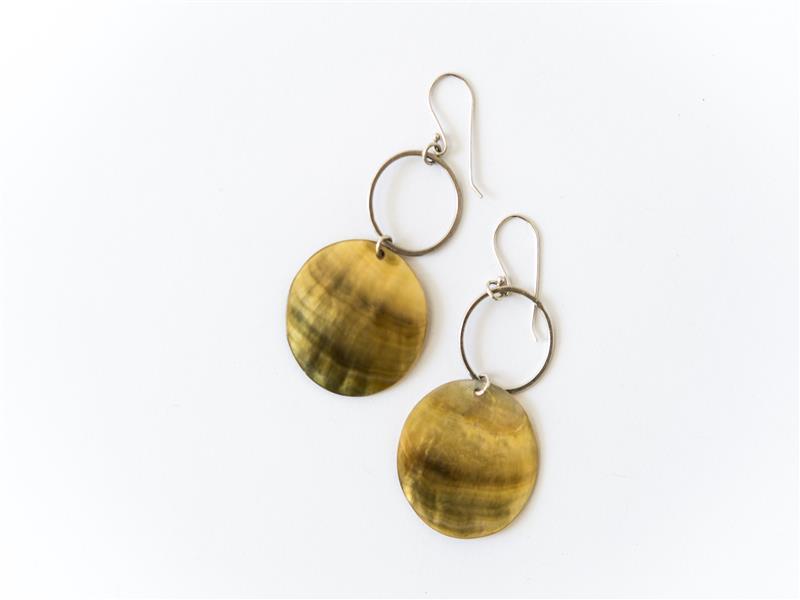 Drop hoop earrings FSE10, $46.